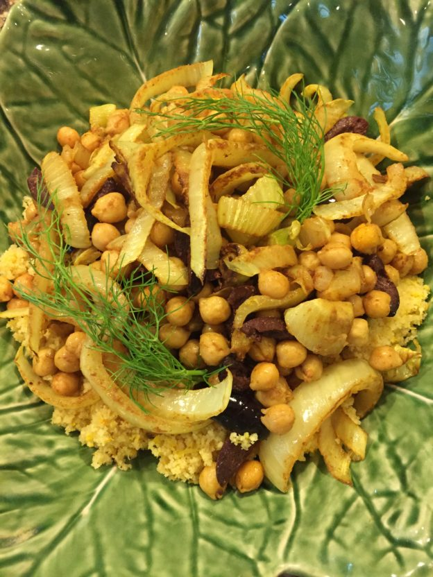 Couscous With Chickpeas, Fennel, And Citrus Recipe — Dishmaps